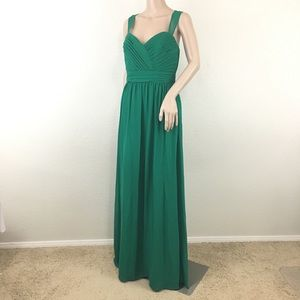 Alfred Angelo Emerald Green Long Gown 6